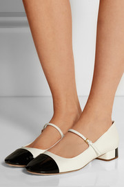 Miu Miu Two-tone patent-leather Mary Jane flats