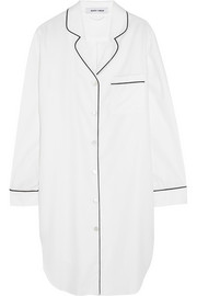 Poppy cotton-blend twill nightshirt