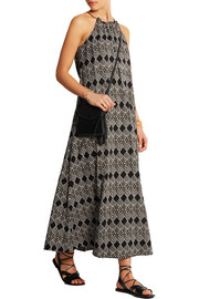 Aruba printed cotton-gauze maxi dress