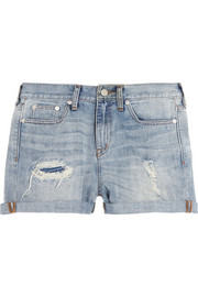 Rip & Repair distressed denim shorts