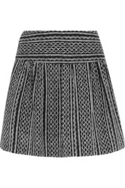 Nico printed silk-crepe mini skirt