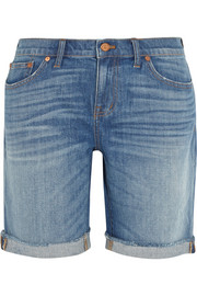 Bermuda high-rise stretch-denim shorts
