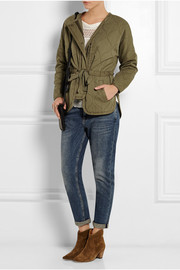 Quilted cotton-twill jacket