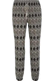 Tobago printed cotton-gauze tapered pants