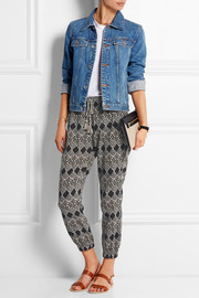 Madewell Tobago printed cotton-gauze tapered pants