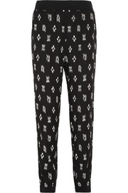 Printed woven track pants