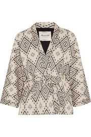 Arrowhead cotton-jacquard jacket