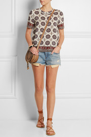Madewell Printed silk crepe de chine top