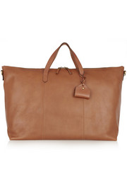 The Transport textured-leather weekend bag