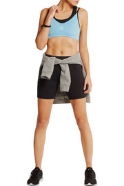 Layered stretch sports bra