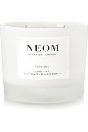 Neom Organics Sensuous Ylang Ylang, Frankincense and Patchouli scented candle, 420g
