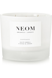 Neom Organics Happiness White Neroli, Mimosa & Lemon scented candle