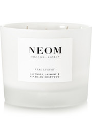Neom Organics Real Luxury Lavender, Jasmine and Brazilian Rosewood scented candle