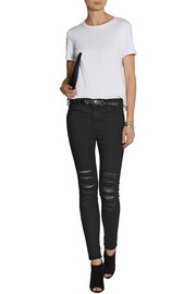 Maria distressed high-rise skinny jeans