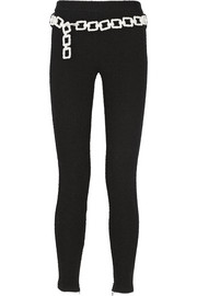 Moschino Cheap and Chic Bouclé-effect stretch cotton-blend jersey leggings