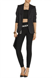 Bouclé-effect stretch cotton-blend jersey leggings