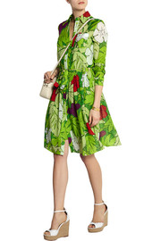 Moschino Cheap and Chic Printed cotton and silk-blend voile dress