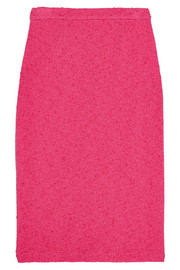 Stretch-bouclé pencil skirt