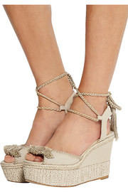 Patmos canvas wedge sandals