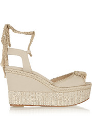Paul Andrew Patmos canvas wedge sandals