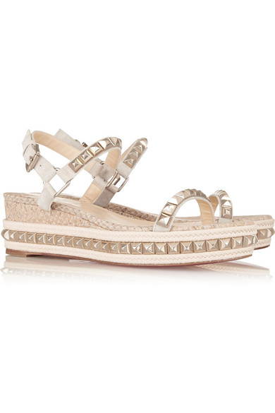 christian louboutin cataclou 60 studded espadrille sandals