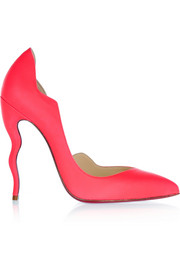 Dalida 120 neon leather pumps
