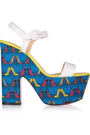 Christian Louboutin Bella Tige 160 leather wedge sandals