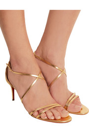 Christian Louboutin Gwinee 70 metallic leather sandals