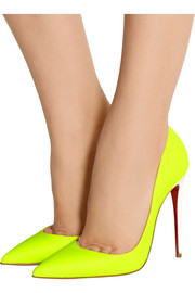 So Kate 120 neon leather pumps