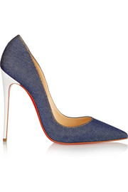 Christian Louboutin So Kate 120 denim pumps