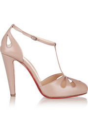 Christian Louboutin Amyada 100 leather T-bar pumps
