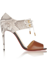Mayerling 100 leather and python sandals
