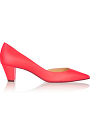 Christian Louboutin Karera 45 neon leather pumps