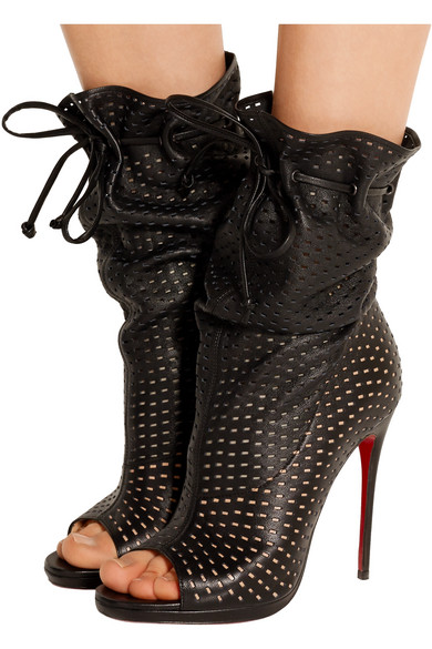 louboutin fake - Christian Louboutin | Jennifer 120 perforated leather boots | NET ...