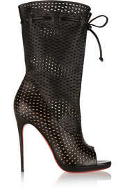 Christian Louboutin Jennifer 120 perforated leather boots