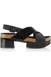 Tessa snake-effect leather sandals