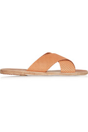 Thais perforated leather slides