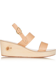Clio Clog leather wedge sandals