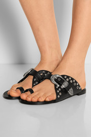 Nuvorock embellished leather sandals