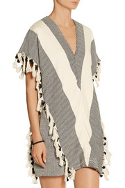 Finds + Koza Elyse fringed herringbone cotton kaftan