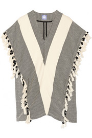 + Koza Elyse fringed herringbone cotton kaftan