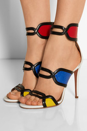 It's Gorgeous leather and elaphe sandals