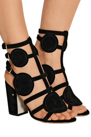 Halistair cutout suede sandals