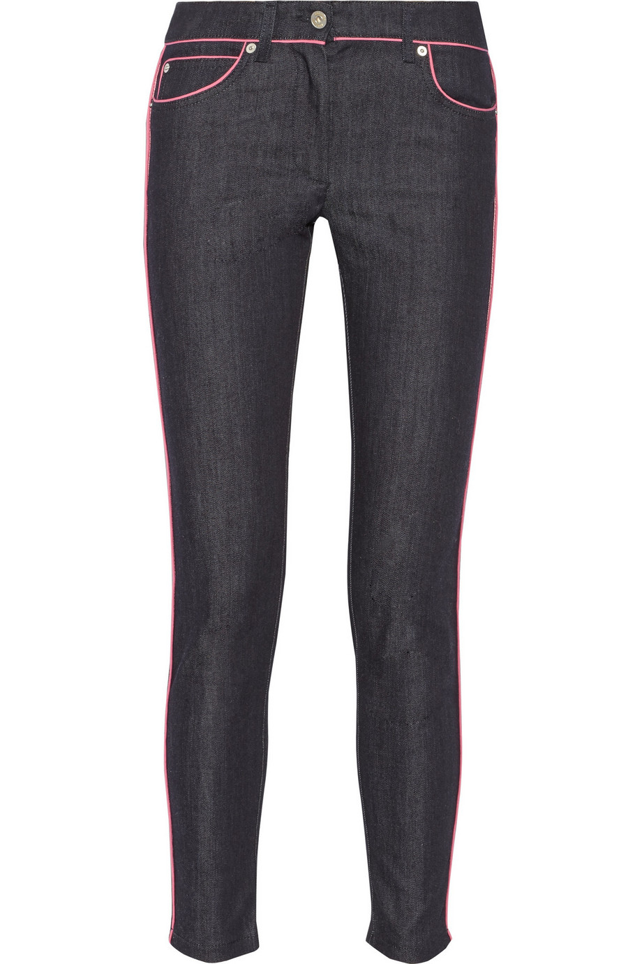 Moschino Mid-Rise Skinny Jeans, Mid Denim, Women's, Size: 42