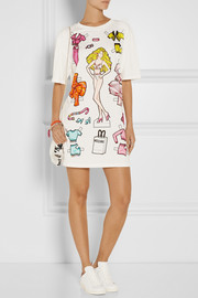 Moschino Printed cotton-jersey mini dress