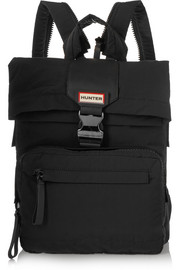 Hunter Original Leather-paneled canvas backpack