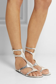 Tamara Mellon Heat metallic leather sandals