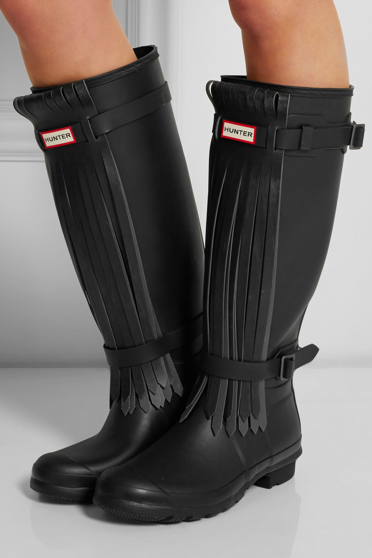 Hunter Original Tall Fringe Wellington boots