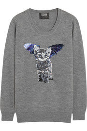 Markus Lupfer Catbat sequined merino wool sweater