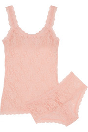 Hanky Panky Signature stretch-lace camisole and boy shorts set